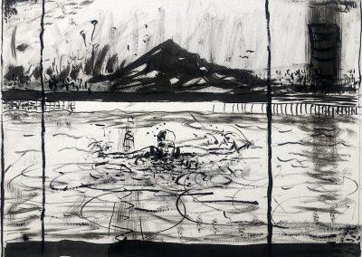 Rynier Prins, Emmie Karoo swem, Ink on paper (2)